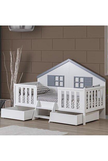 Setay Montessori Yatak, Fethiye Çekmeceli Montessori Karyola - Gri