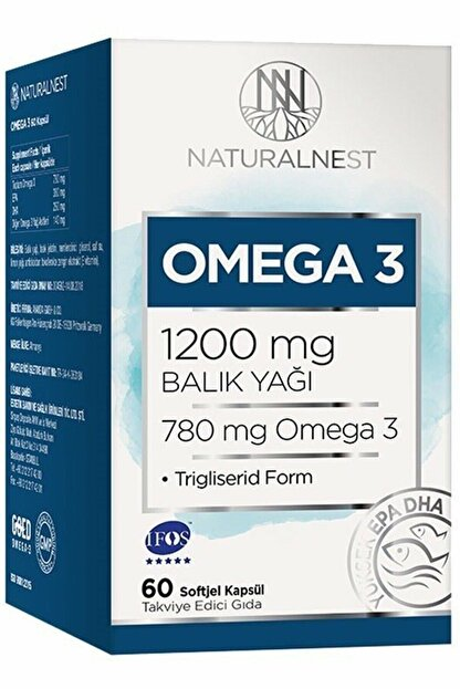 Natural Nest Omega 3 1200 Mg Balık Yağı 60 Kapsül - Limon