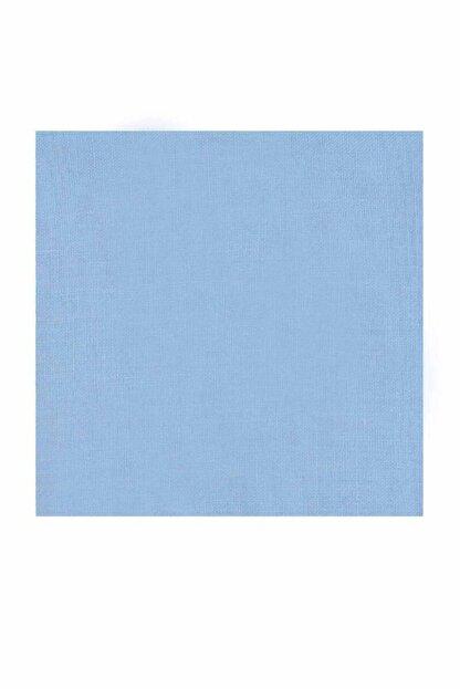 Kaşmir Kadın Mavi  Dikişsiz Düz Yazma 90 cm Bebe 26