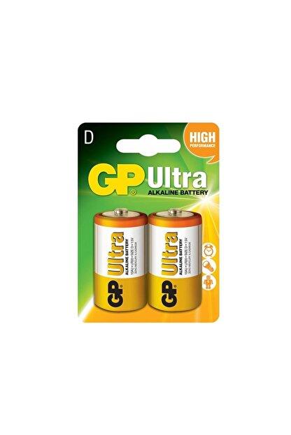 GP Batteries Pil Büyük Boy Ultra Alkalıne (d Boy Kalın Pil) 2 Adet Gp 13au