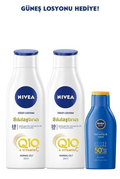Nivea Q10 Sıkılaştırıcı Vücut Losyonu 250 Mlx2+güneş Losyonu Spf50 100 Ml