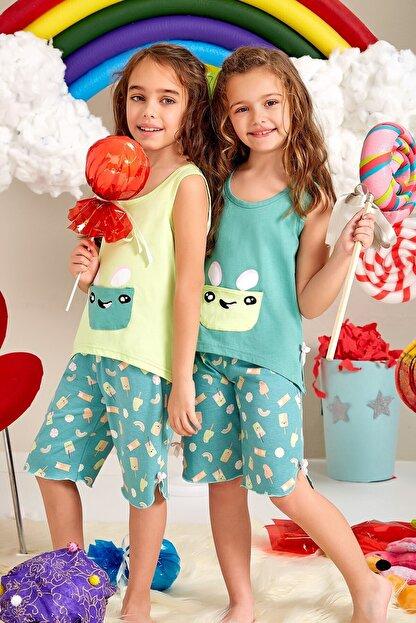 Lohusa Sepeti Kız Çocuk Milk Shake Kapri Pijama Takımı