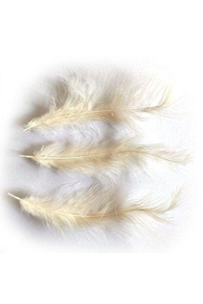 araget Kuş Tüyü Krem Rengi 100 Adet