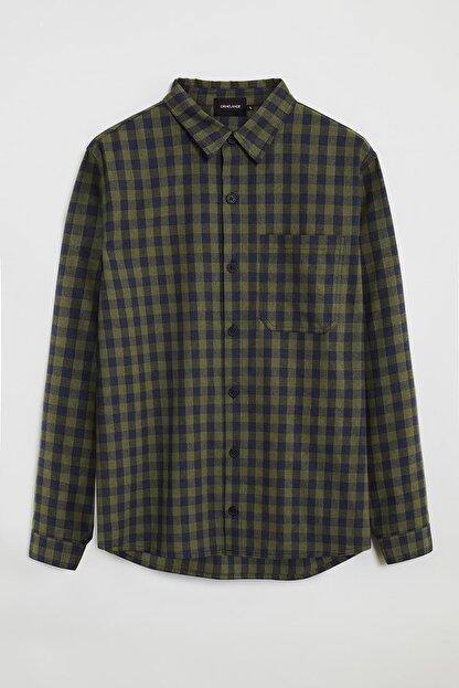 GRIMELANGE BRETT Erkek Yeşil Kareli Regular Gömlek