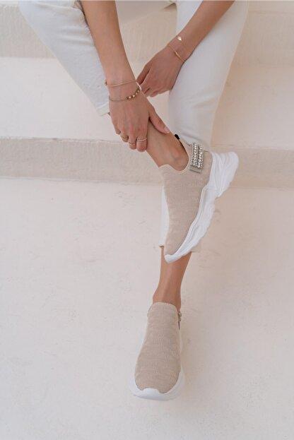 ANGELİNA JONES Costel Kadın Nude Trıko Taşli Ayakkabi