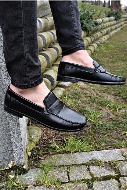 ALBİDÜNYA Erkek Siyah Cilt Klasik Ayakkabı