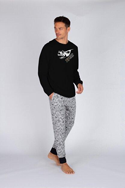Hays Erkek Gri Melanj Uzun Pijama Takımı