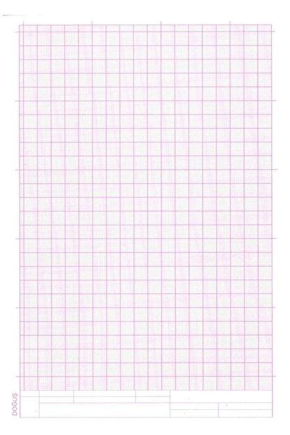 FİYPER A4 Milimetrik Teknik Resim Kağıdı 30lu Poşet - Kırmızı