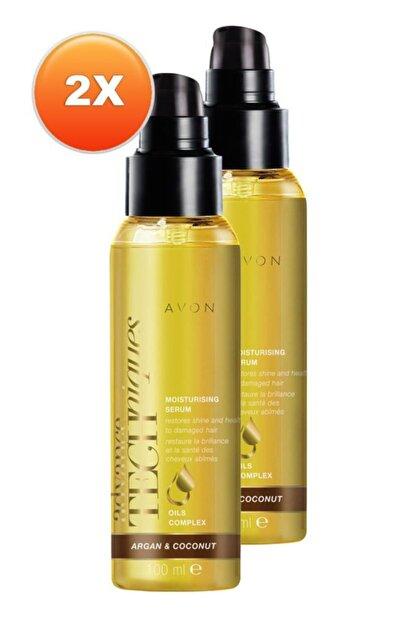 Avon Argan Ve Hindistan Yağlı Saç Serumu 100 Ml. Ikili Set