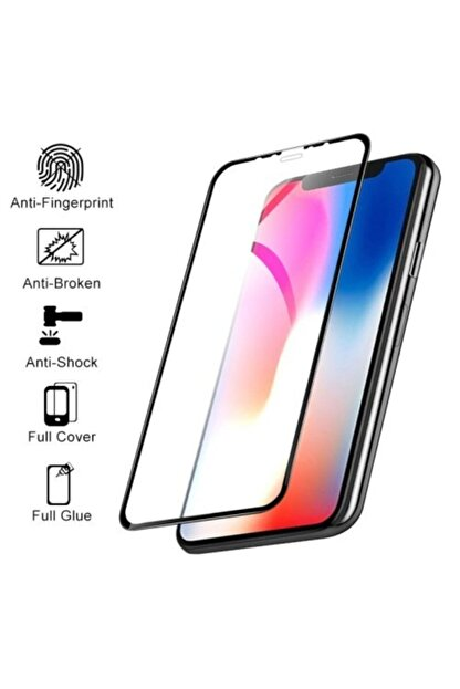 GALIO Iphone 7 Siyah Full Seramik Ekran Koruyucu