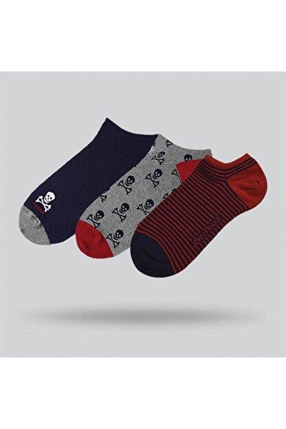 John Frank Üçlü Kısa Çorap Multıcolor