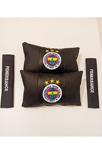 Türkiye Fenerbahçe Taraftar Seyahat Boyun Yastığı Ve Kemer Pedi Takımı Nakışlı