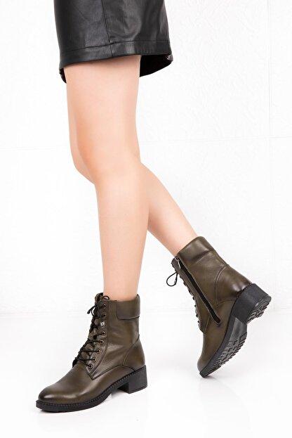 Bellacomfort Shoes Kadın Haki Yeşil Bot-n1000