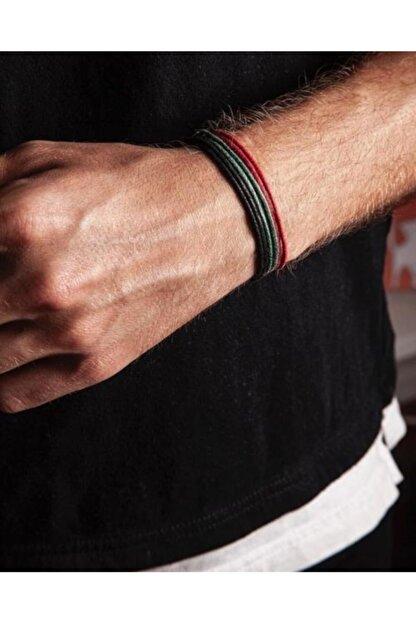 Daphne Store Kalın Ip - Siyah,kırmızı,yeşil 3lü Bileklik