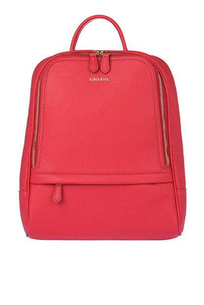Guzini Kadın Kırmızı Deri Çanta 7568