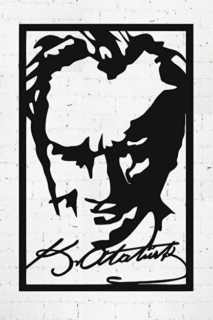 PAYİDARTS Imzalı Atatürk Portre Dekoratif Lazer Kesim Metal Duvar Tablo 45x70cm