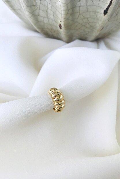 MaidCo Accessories Kadın Gold Burgu Dokulu Kıkırdak Küpe Kp1060