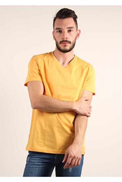 Mckanzie Erkek Sarı Basıc T-shirt