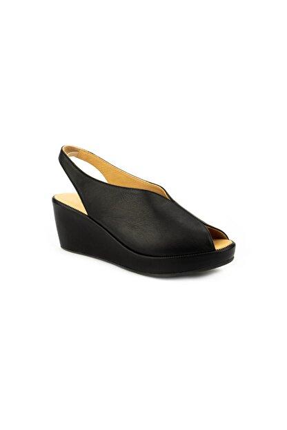 Emel Ayakkabı Kadın Siyah Ortopedik Yumusak Yazlık Sandalet