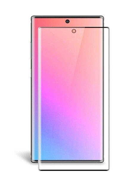 Sunix Samsung Galaxy Note 10 Plus Pmma Fibernano Kavisli Ekran Koruyucu Kırılmaz Cam