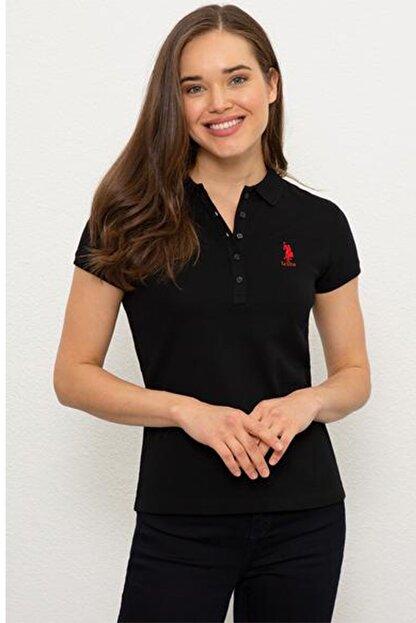 US Polo Assn Kadın Siyah Kısa Kollu T-Shirt