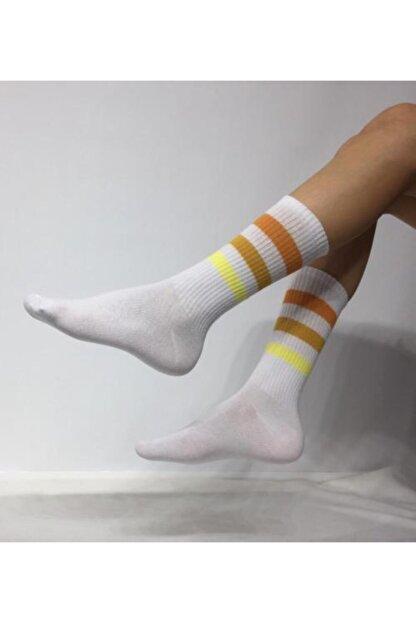Adel Unisex 3 Şeritli Soket (Uzun) Çorap