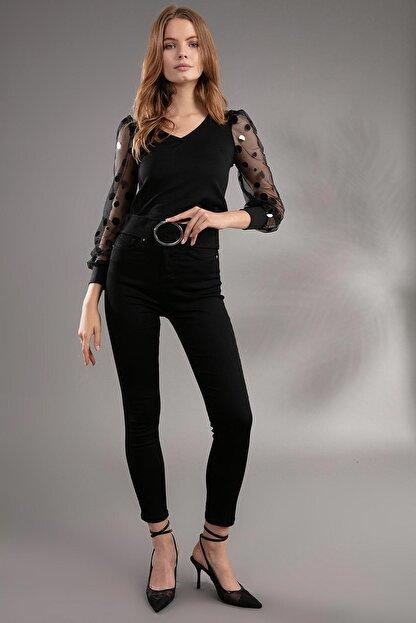 Pattaya Kadın Yüksek Bel Skinny Fit Pantolon 10305