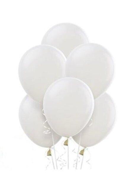 """Deniz Party Store Beyaz Pastel Balon 12 """" inç 25 Adet"""