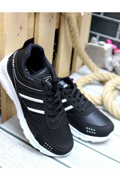 Trendway Unisex Siyah Spor Ayakkabı