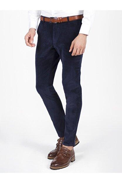 Mcr Erkek Lacivert Model Super Slim Kadife Pantolon 38804