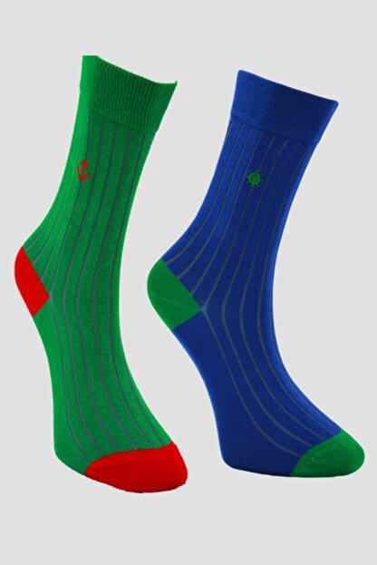 Özkay Socks Unısex Nakışlı Çok Renkli Soket Çorap