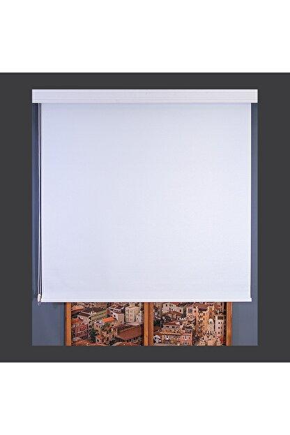 Anıper Beyaz Düz Stor Perde Tmnp-1001 110x260 cm