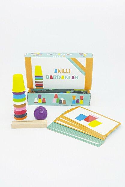 Akıllı Dükkan Akıllı Bardaklar El Becerisi Ve Zeka Gelişimine Destek Olan, Renkli Eğitici Oyuncak