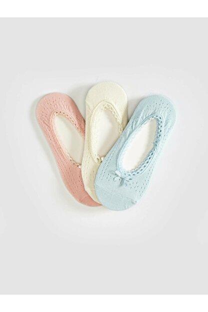 LC Waikiki Kadın Mavi Babet Çorap