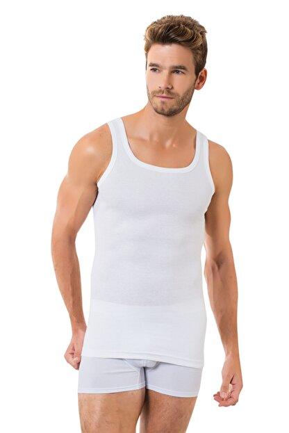 Öztaş Underwear Erkek Beyaz 3'lü Ribana Atlet
