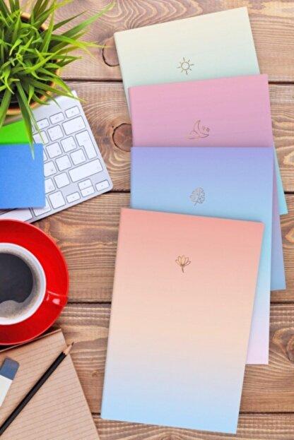 AKILLICA Notebook 4'lü Defter Set Soft Gradient Serisi 11,5x16 Cm
