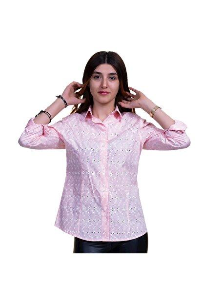 Exve Exclusive Kadın Pembe Çiçekli Gömlek