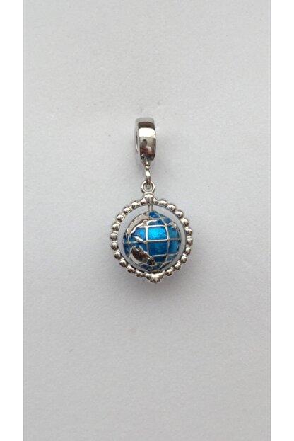 CHARM CLUB Kadın Gümüş Pandora Model Dünya Charm