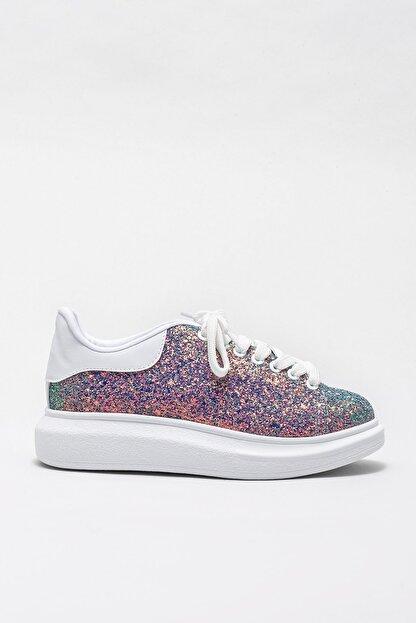 Elle ZANDA-2 Yesıl Gliter Kadın Casual Ayakkabı