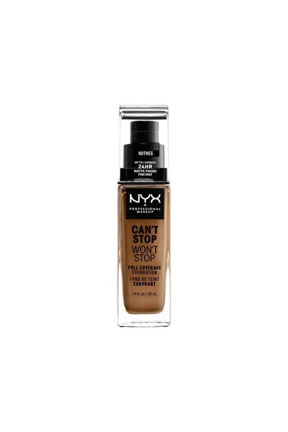 NYX Professional Makeup Fondöten - Can't Stop Won't Stop Full Coverage Foundation 16.5 Nutmeg 30 ml 800897157340