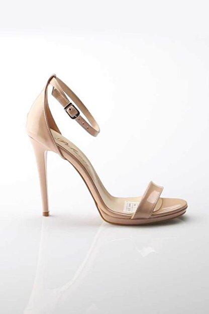 Modabuymus Kadın Ten Hakiki Deri Ayakkabı
