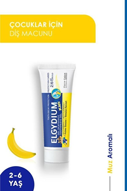 Oral Care Elgydium Kids Banana 2-6 Yaş Diş Macunu 50 Ml