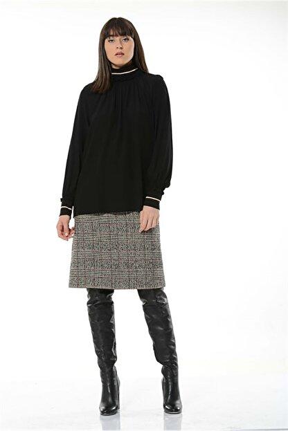 BİRELİN Kadın Siyah Bluz
