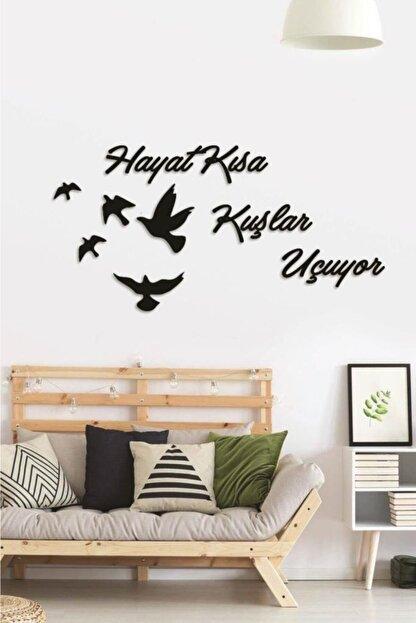 Hellove Hayat Kısa Kuşlar Uçuyor Duvar Dekoru Mdf Tablo Duvar Süsü Ahşap
