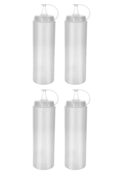 Lira 4 Adet Şeffaf Plastik Sosluk Ketçap Mayonez Sos Şişesi
