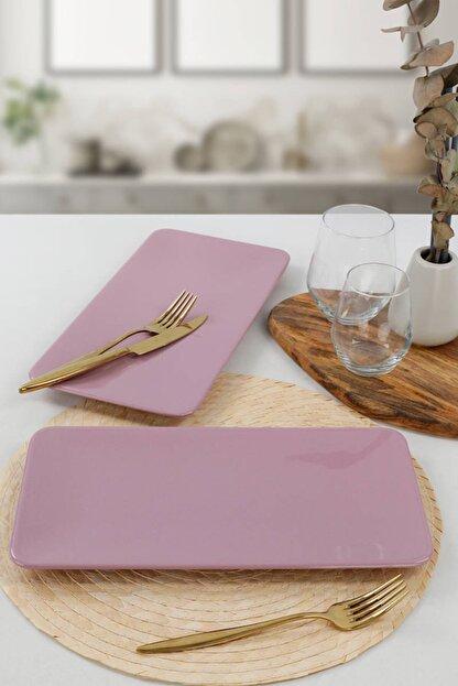 Keramika Violet Siera Kayık Tabak 33 Cm 2 Adet