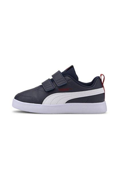 Puma COURTFLEX V2 V PS Lacivert Erkek Çocuk Sneaker Ayakkabı 101085088