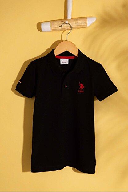 US Polo Assn Sıyah Erkek Cocuk T-Shirt