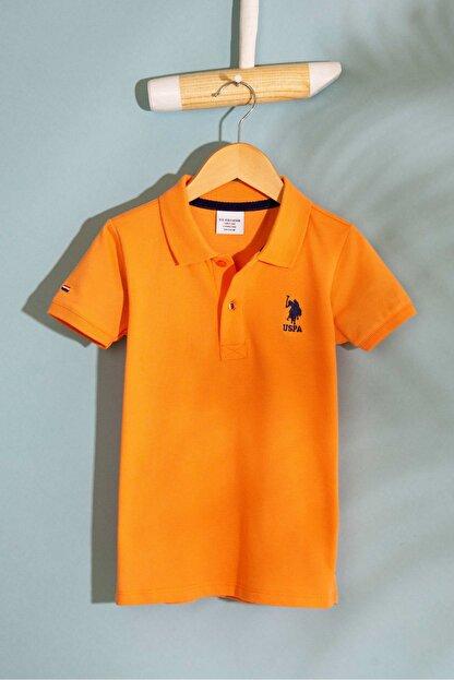 US Polo Assn Turuncu Erkek Cocuk T-Shirt