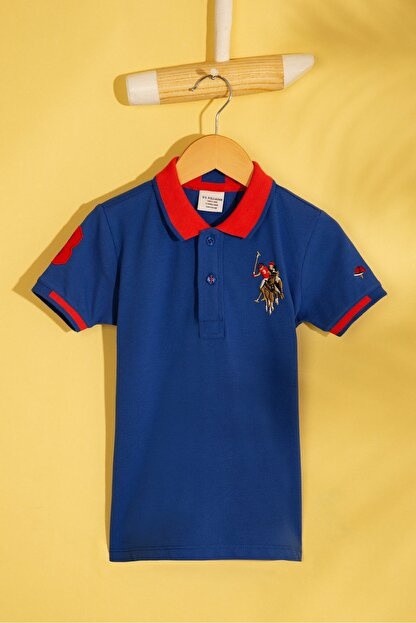 US Polo Assn Mavı Erkek Cocuk T-Shirt